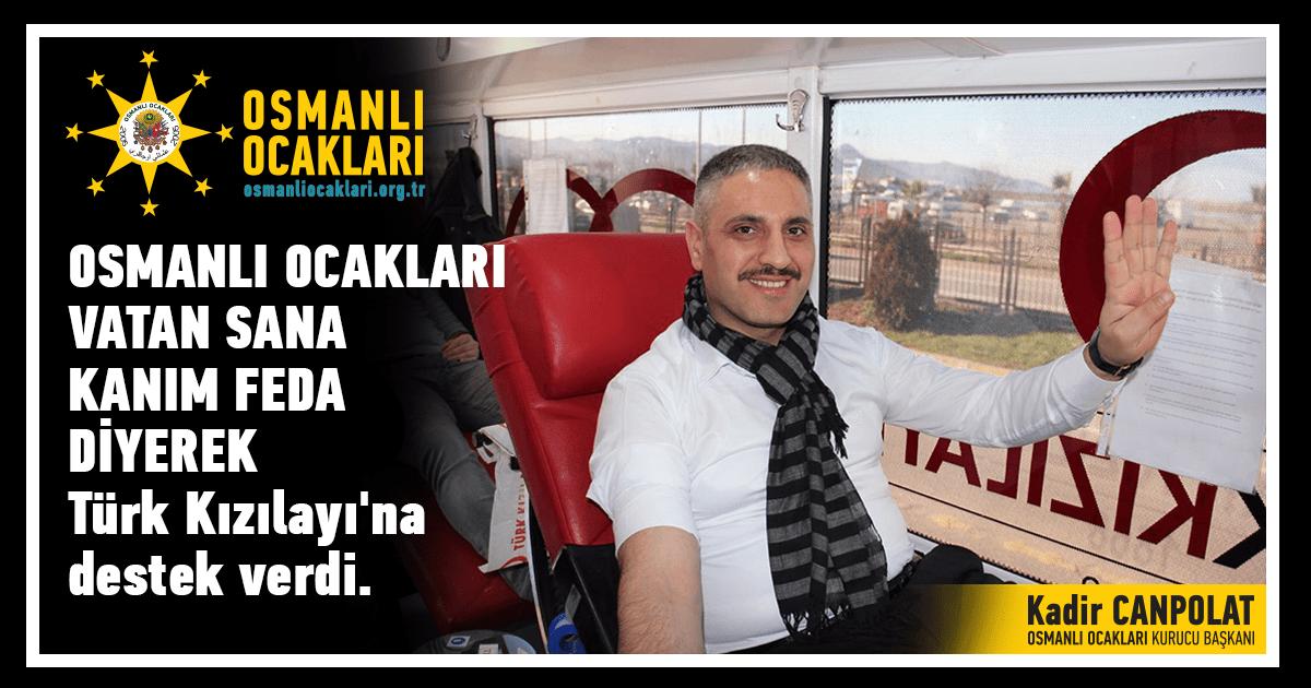 Kızılay'a kan bağışı kampanyasına destek!